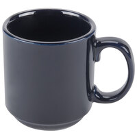 CAC PRM-12-CBU Cobalt Blue 12 oz. Venice Stacking Mug - 36/Case
