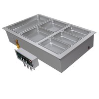 Hatco HWBI-1DA One Compartment Modular / Ganged Drop In Hot Food Well with 3/4 inch NPT Drain and Auto-Fill