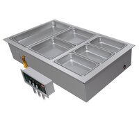 Hatco HWBI-4DA Four Compartment Modular / Ganged Drop In Hot Food Well with 3/4 inch NPT Drain and Auto-Fill