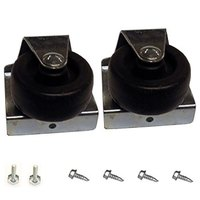 True 929654 2 inch Swivel Casters with Leveling and Mounting Screws - 2 / Set