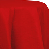 Creative Converting 923548 82 inch Classic Red Tissue / Poly Table Cover