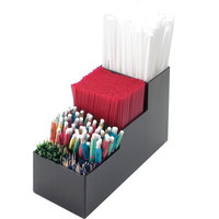 Cal-Mil 213 Classic Black Five Section Bar Organizer - 3 1/2 inch x 9 1/4 inch x 5 1/4 inch
