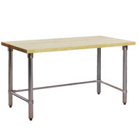 Eagle Group MT3048GT Wood Top Work Table with Galvanized Base - 30 inch x 48 inch