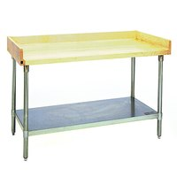 Eagle Group MT3072S-BS Wood Top Work Table with Stainless Steel Undershelf and 4 inch Backsplash - 30 inch x 72 inch