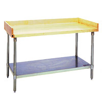Eagle Group MT3060B-BS Wood Top Work Table with Galvanized Undershelf and 4 inch Backsplash - 30 inch x 60 inch