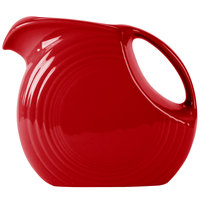 Homer Laughlin 484326 Fiesta Scarlet 2.1 Qt. Large Disc Pitcher - 2 / Case