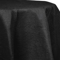 Creative Converting 923260 82 inch Black Velvet Tissue / Poly Table Cover