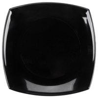 Cardinal Arcoroc Opal Delice C9867 7 1/4 inch Square Black Salad / Dessert Plate - 24 / Case