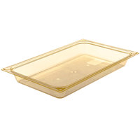 Carlisle 10400B13 StorPlus Full Size Amber High Heat Food Pan - 2 1/2 inch Deep