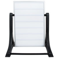 Aarco The Rocker Two Sided White Letterboard with Stand and Characters - 24 inch x 36 inch