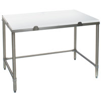 Eagle Group CHT3030S 30 inch x 30 inch Poly Top Stainless Steel Chopping Table - Open Base