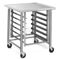 Eagle Group MMT3030G 30 inch x 30 inch Mobile Mixer Stand with Galvanized Legs