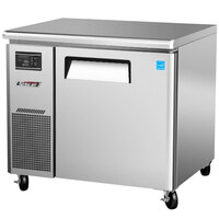 Turbo Air JUR-36 J Series 36 inch Undercounter Refrigerator with Side Mounted Compressor - 7 Cu. Ft.