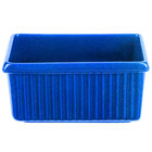 Tablecraft CW1530BS 3 Qt. Blue Speckle Rectangular Server with Ridges