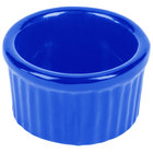Tablecraft CW1655BL 6 oz. Cobalt Blue Cast Aluminum Ramekin