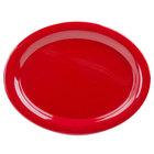 GET OP-320-RSP Red Sensation 11 1/4 inch x 8 1/2 inch Oval Platter - 12/Case