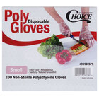 Choice Disposable Poly Gloves - Small 1000 / Box for Food Service