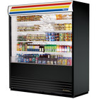 True TAC-72-LD Black Vertical Air Curtain Refrigerator - 66 Cu. Ft.