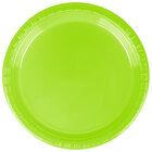 Creative Converting 28312311 7 inch Fresh Lime Plastic Lunch Plate - 240 / Case