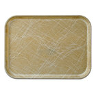 Cambro 57214 4 15/16 inch x 6 15/16 inch Rectangular Abstract Tan Fiberglass Camtray - 12 / Case