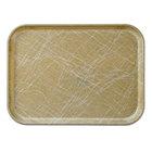 Cambro 2632214 10 7/16 inch x 12 3/4 inch (26,5 x 32,5 cm) Rectangular Metric Abstract Tan Fiberglass Camtray - 12 / Case