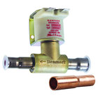 All Points 58-1153 Solenoid; 1/2 inch ODF x 3/8 inch ODF Solder Fittings; 208/240V