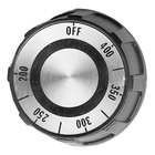 All Points 22-1516 2 inch Black and Silver Fryer / Range Thermostat Knob (Off, 200-400)