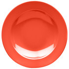 Elite Global Solutions D10PB Rio Spring Coral 18 oz. Round Melamine Pasta / Soup Bowl