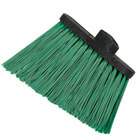 Carlisle 3686809 Duo-Sweep Heavy Duty Angled Broom Head with Unflagged Green Bristles - 12 / Case