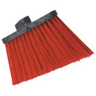 Carlisle 3686805 Duo-Sweep Heavy Duty Angled Broom Head with Unflagged Red Bristles - 12/Case