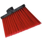 Carlisle 3686705 Duo-Sweep Medium Duty Angled Broom Head with Flagged Red Bristles - 12/Case