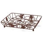 Elite Global Solutions WB12142 14 inch x 12 inch Antique Copper Rectangular Metal Leaf Wire Basket