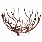 Elite Global Solutions WB940 9 inch Antique Copper Round Open Wire Basket