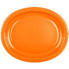 Creative Converting 433282 12 inch x 10 inch Sunkissed Orange Oval Paper Platter - 96/Case
