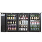 Avantco UBB-24-72G 72 inch Narrow Glass Door Back Bar Cooler Stainless Steel Top and LED Lighting