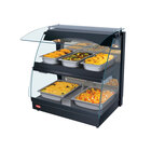 Hatco GRCMW-1DH Glo-Ray 26 inch Double Shelf Curved Merchandising Warmer with Humidity Control - 1660W