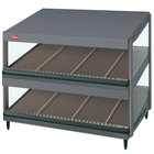 Hatco GRSDS-36D Gray Granite Glo-Ray 36 inch Slanted Double Shelf Merchandiser - 120V