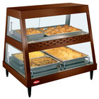 Hatco GRHD-2PD Antique Copper Stainless Steel Glo-Ray 32 1/2 inch Full Service Dual Shelf Merchandiser
