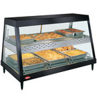 Hatco GRHD-3PD Black Stainless Steel Glo-Ray 45 1/2 inch Full Service Dual Shelf Merchandiser
