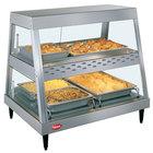 Hatco GRHD-2PD Stainless Steel Glo-Ray 32 1/2 inch Full Service Dual Shelf Merchandiser