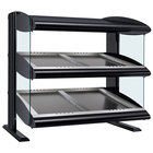 Hatco HZMS-48D Black 48 inch Slanted Double Shelf Heated Zone Merchandiser