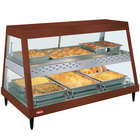 Hatco GRHD-3PD Antique Copper Stainless Steel Glo-Ray 45 1/2 inch Full Service Dual Shelf Merchandiser