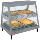 Hatco GRHD-2PD Gray Granite Stainless Steel Glo-Ray 32 1/2 inch Full Service Dual Shelf Merchandiser
