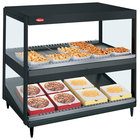 Hatco GRSDS/H-41DHW Black Glo-Ray 41 inch High Wattage Horizontal / Slanted Double Shelf Merchandiser