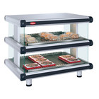 Hatco GR2SDS-24D White Granite Glo-Ray Designer 24 inch Slanted Double Shelf Merchandiser - 120V