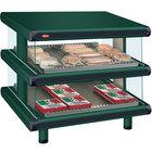 Hatco GR2SDS-30D Hunter Green Glo-Ray Designer 30 inch Slanted Double Shelf Merchandiser