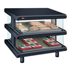 Hatco GR2SDS-36D Black Glo-Ray Designer 36 inch Slanted Double Shelf Merchandiser