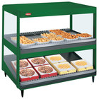 Hatco GRSDS/H-41D Hunter Green Glo-Ray 41 inch Horizontal / Slanted Double Shelf Merchandiser