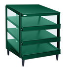 Hatco GRPWS-2418T Hunter Green Glo-Ray 24 inch Triple Shelf Pizza Warmer - 1440W