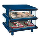 Hatco GR2SDS-48D Navy Blue Glo-Ray Designer 48 inch Slanted Double Shelf Merchandiser
